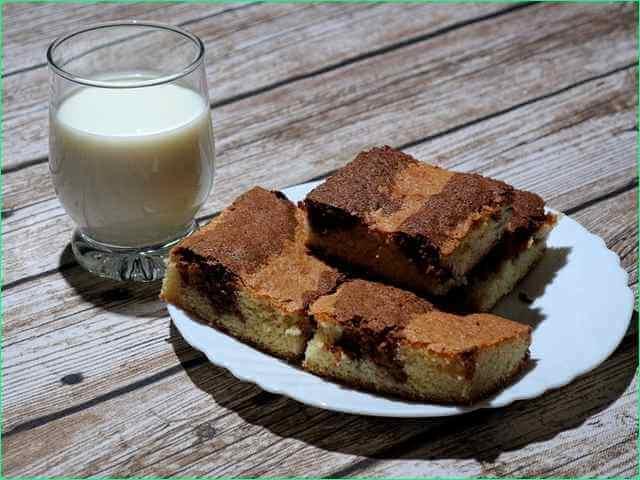 торт Зебра с молоком