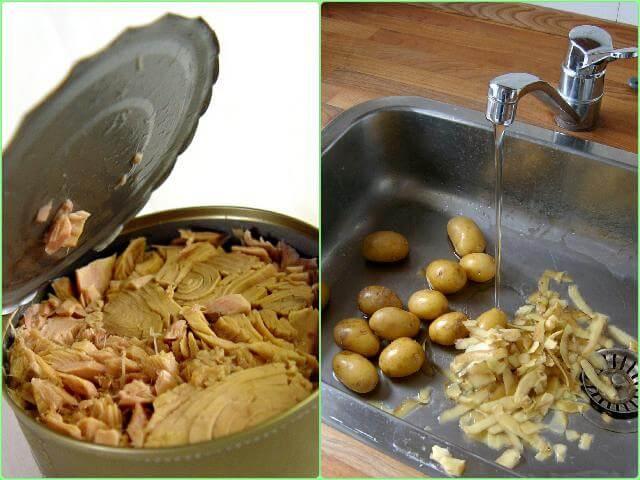 Готовим картофельную запеканку с рыбой в мультиварке