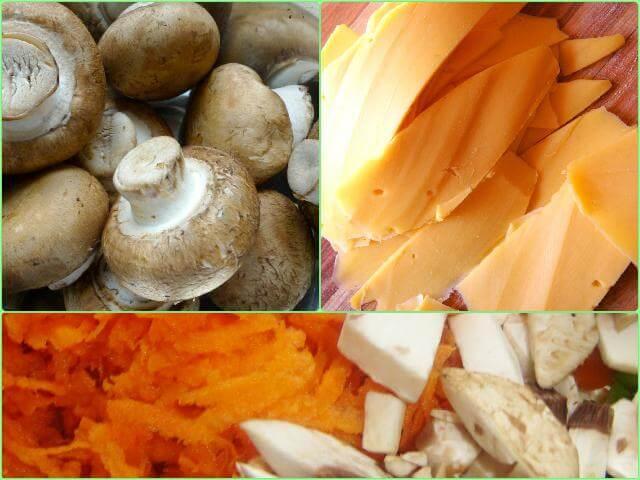 Картофельная запеканка с грибами в мультиварке