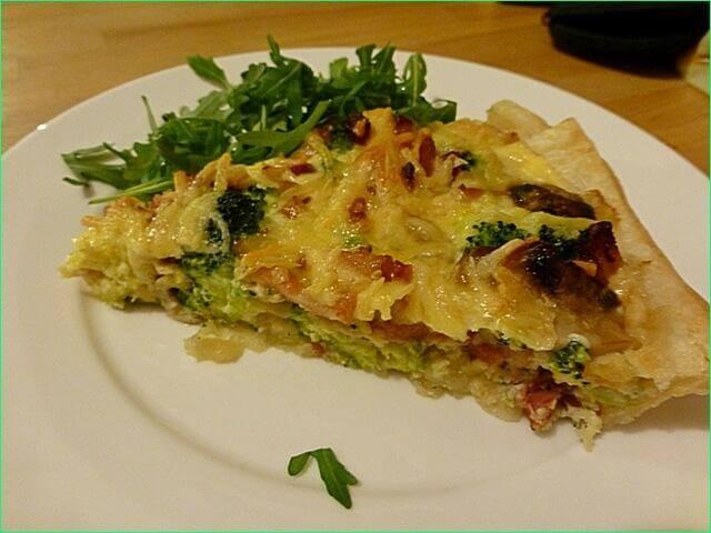 Слоеный пирог с овощами