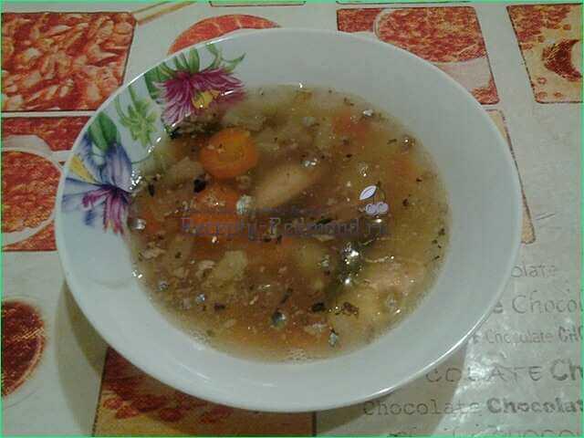 Суп из рыбных консервов в мультиварке