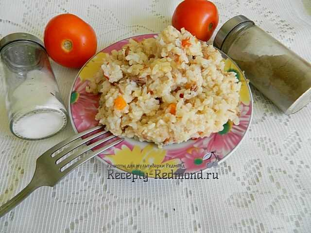 рис с тушенкой из мультиварки