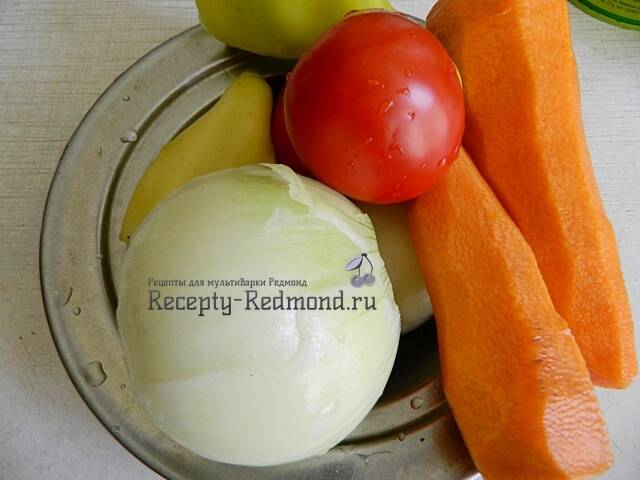 готовим овощи для риса с тушенкой