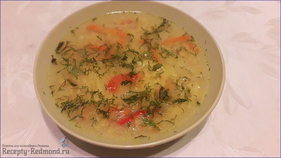 Постный гороховый суп (без мяса, вегетарианский)