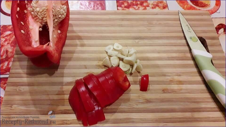 болгарский перец и чеснок