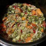 Гречка с замороженными овощами