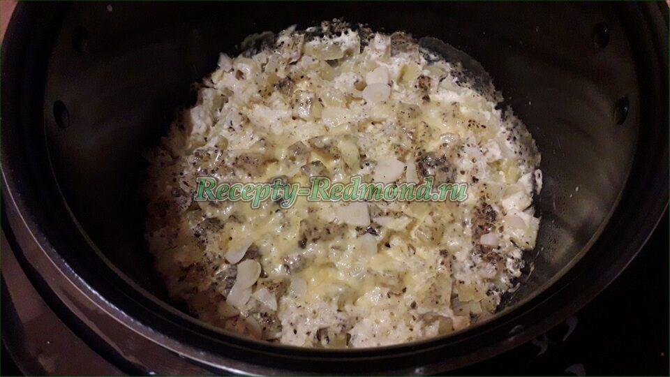 картошка запеченная с сыром и майонезом в мультиварке